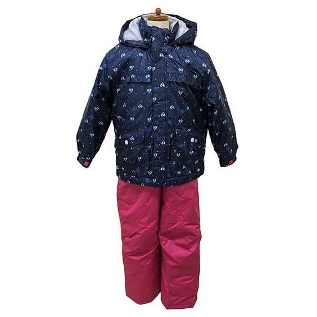 da7d52a28475b カロライン ジュニア キッズ・子供 スキー ウェア上下セット ハートドット柄スーツ 3662340 ジュニアスキー