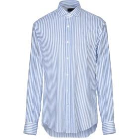 《送料無料》PAL ZILERI メンズ シャツ アジュールブルー 44 コットン 100%