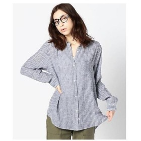 ROSE BUD / ローズ バッド リネン混ストライプ柄シャツ