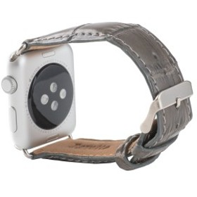 Revetta クロコダイル ワニ革 Apple Watch バンド ベルト グレー 38mm [088-3crab38]