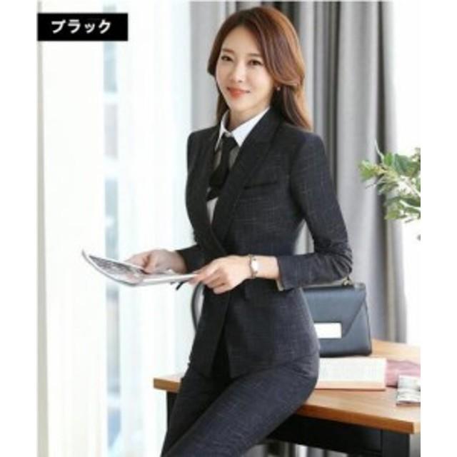 ea50dfb2070 スーツセットレディース パンツセット スカートセット 事務服 フォーマル 二ボタン 面接 制服OL お洒落
