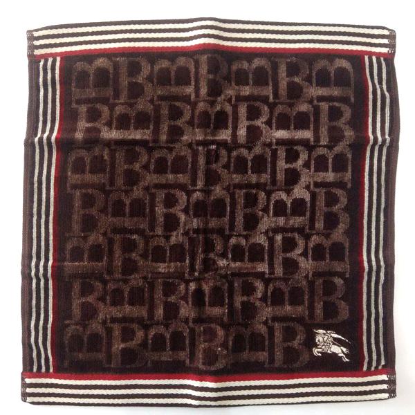 BURBERRY 戰馬咖啡色 毛巾/方巾 日本進口/100%純棉