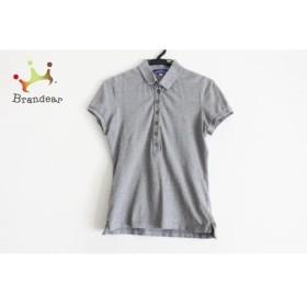 バーバリーブルーレーベル 半袖ポロシャツ サイズ38 M レディース 美品 グレー 新着 20190723【人気】