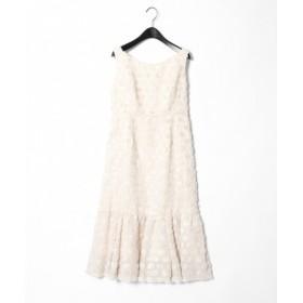 GRACE CONTINENTAL / グレースコンチネンタル フェザージャガードドレス