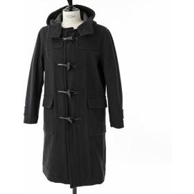 Traditional Weatherwear トラディショナルウェザーウェア HOPKINS CH1611-CHP0081 ウール混 フーテッド ダッフルコート HD01/BLAC ユニセックス