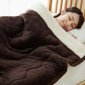 ベルーナインテリア あったかフランネル&ボアお買得3層毛布<フランネル毛布・ボア毛布・合わせ毛布・洗える・シープ調・わた キャメル シングル毛布 ボア毛布 シープボア フランネル毛布 暖かい あったか 軽い ふんわり 無地 冬 シングル ダブル 安い ボア かわいい一人暮らし 新生活 買い替え まとめ買い