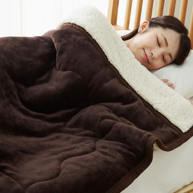 ベルーナインテリア あったかフランネル&ボアお買得3層毛布<フランネル毛布・ボア毛布・合わせ毛布・洗える・シープ調・わた> キャメル シングル毛布 ボア毛布 シープボア フランネル毛布 暖かい あったか 軽い ふんわり 無地 冬 シングル ダブル 安い ボア かわいい一人暮らし 新生活 買い替え まとめ買い