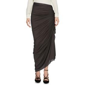 《期間限定 セール開催中》RICK OWENS LILIES レディース 7分丈スカート 鉛色 38 70% レーヨン 15% ナイロン 15% コットン