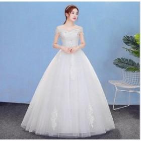 Wedding dress ウエディングドレス/ロングドレス/パーティー/レース/披露宴/結婚式/二次会/お嫁さん/姫系/ホワイト/安い/XWS-242