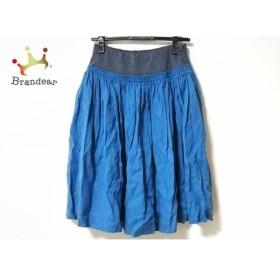 カクマ CACUMA スカート サイズ9 M レディース ブルー×グレー ウエストゴム/フェイクレイヤード       スペシャル特価 20190912