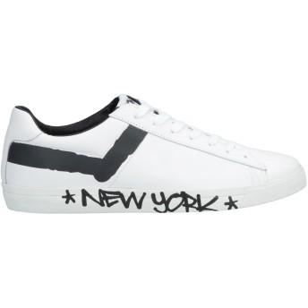 《セール開催中》PONY メンズ スニーカー&テニスシューズ(ローカット) ホワイト 41 革
