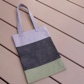 帆布のペタンコ肩掛けバッグ 3カラー