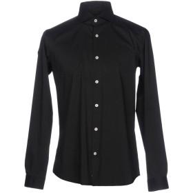 《9/20まで! 限定セール開催中》LIU JO MAN メンズ シャツ ブラック 40 コットン 72% / ナイロン 25% / ポリウレタン 3%