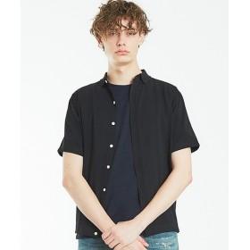 ABAHOUSE / アバハウス 半袖ニットシャツ