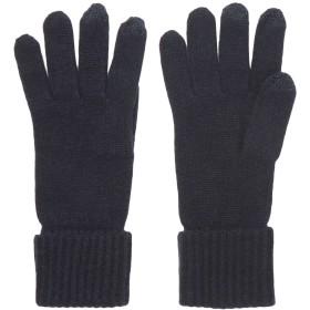 《期間限定 セール開催中》N.PEAL レディース 手袋 ダークブルー one size カシミヤ 100%