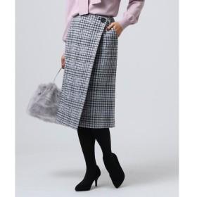 UNTITLED / アンタイトル ナリヤモダンチェックラップ風スカート