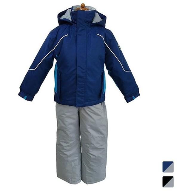 d7325ca95e546 カロライン ジュニア キッズ・子供 スキー ウェア上下セット 無地切替スーツ 3659420 スキーウェアー