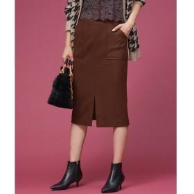 Rouge vif la cle / ルージュ・ヴィフ ラクレ ウール混ポケット付きタイトスカート