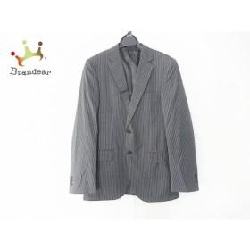 グリーンレーベルリラクシング ジャケット サイズ46 XL メンズ 美品 ダークグレー×白       スペシャル特価 20190609