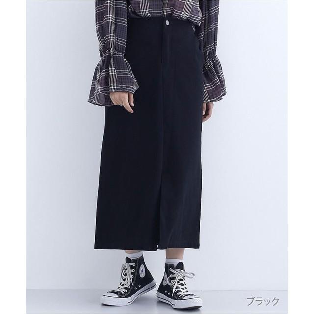 【40%OFF】 メルロー スリットAラインスカート レディース ブラック FREE 【merlot】 【セール開催中】
