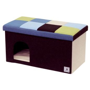 ペティオ Porta ドッグハウス&スツール ブルーモザイク ワイド (1コ入)