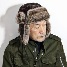 秋 冬 防寒 フライトキャップ 飛行帽 イヤーフラップ 耳当て KASZKIET レトロ メンズ 帽子 キャップ チェック柄 カシュケット マルチカラー グリーン