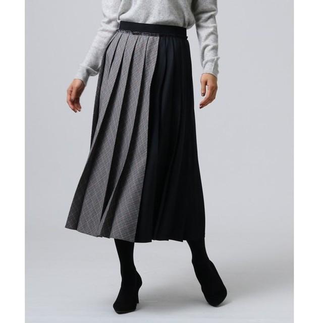UNTITLED / アンタイトル ◆アシンメトリーチェックプリーツスカート