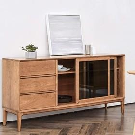 オーダーメイド 職人手作り モダン家具 キャビネット サイドボード リビング 収納棚 家具 天然木 サイズオーダー可