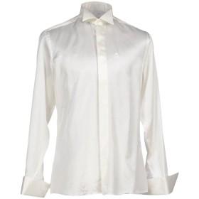 《セール開催中》CARLO PIGNATELLI メンズ シャツ アイボリー 41 シルク 60% / コットン 40%