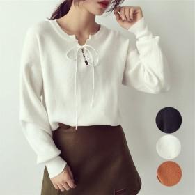 ニット・セーター - shoppinggo ニット レディース セーター 長袖 トップスニットウェア カットソー