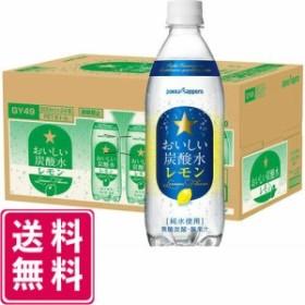 【9/30まで増税前SALE】サッポロ おいしい炭酸水 レモン 500ml×24本 1ケース 送料無料