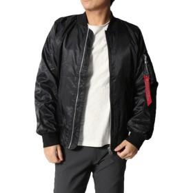 ミリタリージャケット - Style Block MEN ジャケット ブルゾン ミリタリージャケット MA-1 MA1 無地 シンプル ベーシック アウター メンズ ブラック 冬先行