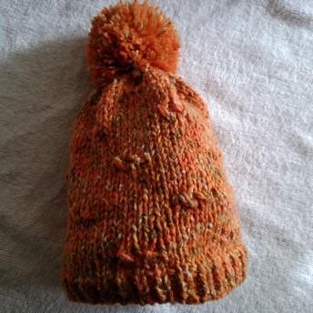 手編み子供ニット帽