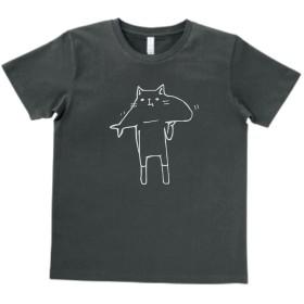 おもしろ Tシャツ 食いしんぼう ネコ スモーク MLサイズ
