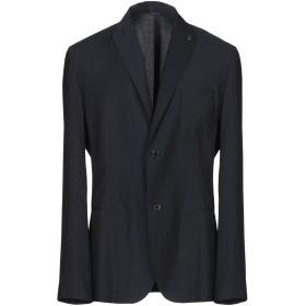 《期間限定セール開催中!》DANIELE ALESSANDRINI HOMME メンズ テーラードジャケット ダークブルー 52 ポリエステル 65% / レーヨン 35%