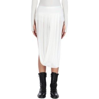 《9/20まで! 限定セール開催中》RICK OWENS レディース 7分丈スカート ホワイト 38 レーヨン 100%