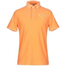《セール開催中》CHARAPA メンズ ポロシャツ オレンジ L コットン 100%