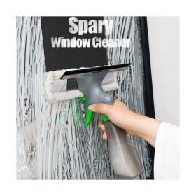 1本で3Way! スプレーとワイパー2種 車窓 ワイパー ガラスクリーナー 窓拭き 窓掃除 クリーニング ワイパー掃除用具◎[P00000KZ]スプレーウィンドウクリーナー