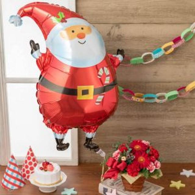 【最速で翌日配送対応】アレンジメント「ぷわぷわクリスマスのバルーンBOX」