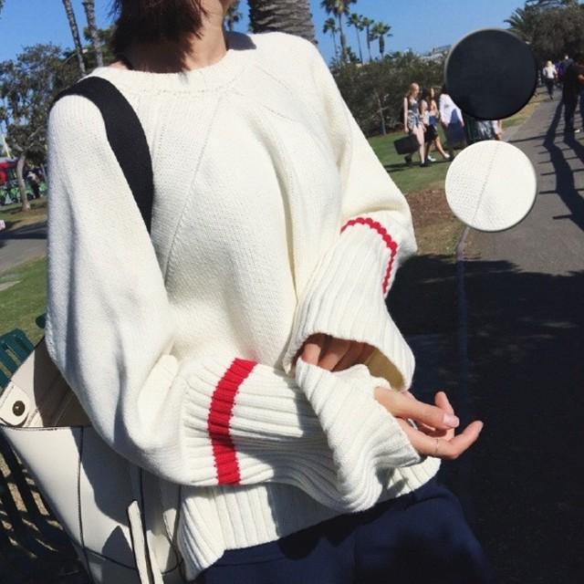 ニット・セーター - shoppinggo ニットトップス ゆったり セーター レディース 長袖 ニットソー