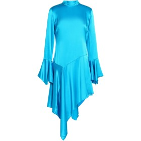《セール開催中》PAPER London レディース ミニワンピース&ドレス アジュールブルー 8 シルク 95% / ポリウレタン 5%