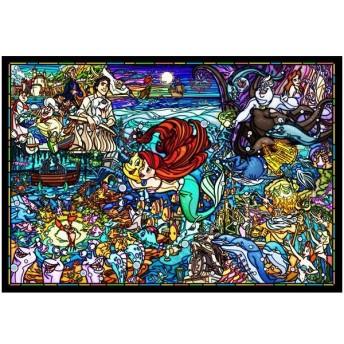 ジグソーパズル リトル・マーメイド ストーリー ステンドグラス ピュアホワイト 1000ピース (DP1000-033)[テンヨー]《取り寄せ※暫定》