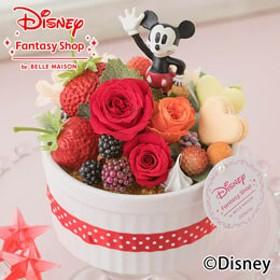 【最速で翌日配送対応】ディズニー プリザーブドフラワー「ハピネスcake=ミッキー=」