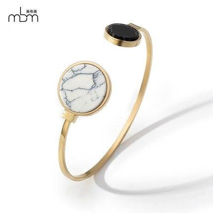 新款滿鑽時尚玫瑰金手環6 鈦鋼飾品不褪色不過敏