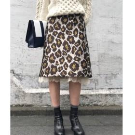 aquagirl / アクアガール 【WEB限定】Kaon ジャガードAラインスカート