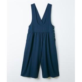 【ゆったりワンサイズ】カシュクールサロペット (レディースパンツ),pants