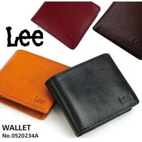 Lee 財布 二つ折り 0520234A 2つ折 サイフ BOOK型 牛革 イタリアンレザー 二つ折り財布 さいふ 札入れ 小銭入れ メンズ レディース おしゃれ 短財布 折財布