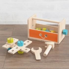 PLAN TOYS(プラントイ) ロボットツールボックス おもちゃ ロボット 工具 ツールボックス 大工さん