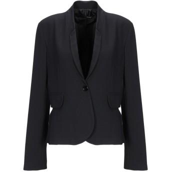 《セール開催中》ANNARITA N レディース テーラードジャケット ブラック 44 ポリエステル 77% / レーヨン 17% / ポリウレタン 6%
