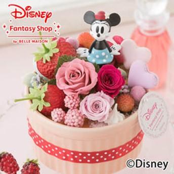 【最速で翌日配送対応】ディズニー プリザーブドフラワー「ハピネスcake=ミニー=」